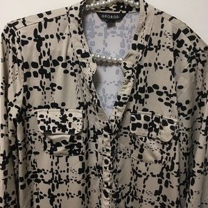 George Size M 8-10 Button Down Top